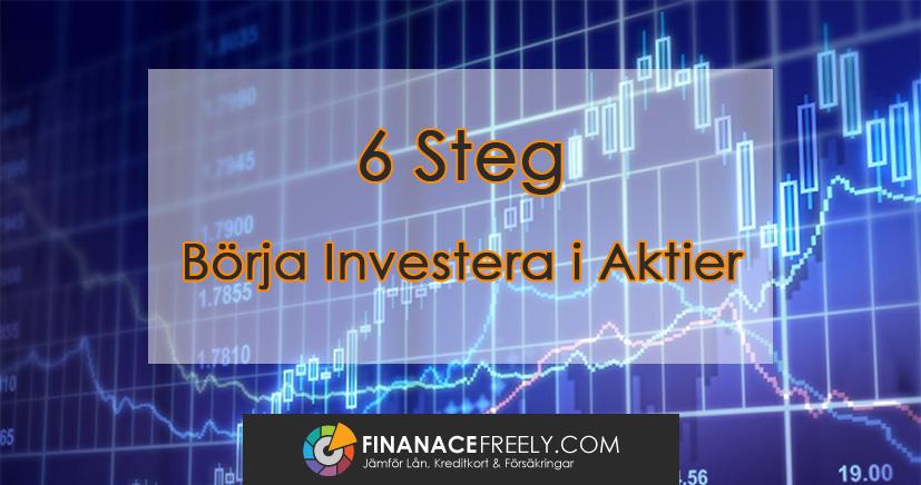Så gör du för att börja investera i aktier